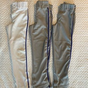 Youth Baseball Pants | 3 pair | Great for Practice